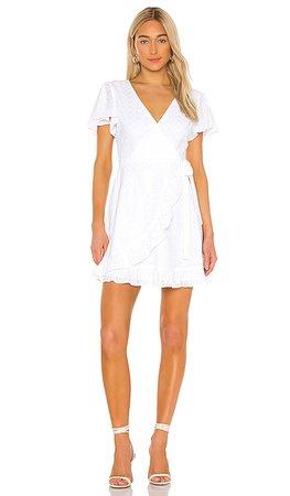 BB Dakota JACK by BB Dakota Easy On The Eyelet Wrap Dress in Optic White   REVOLVE