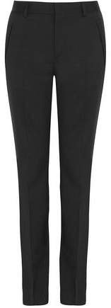 Wool-twill Slim-leg Pants