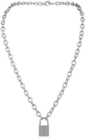 Lock Necklace Punk Hip Hop Chain Necklace Fashion Jewelry for Women Men | Amazon.com
