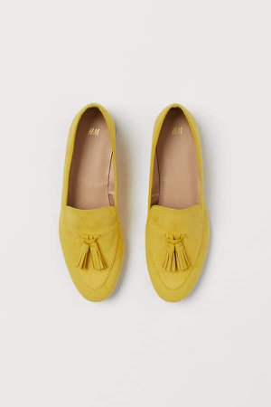 Tasseled Loafers - Yellow