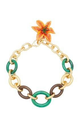 Dolce & Gabbana Maxi Chain Flower Necklace