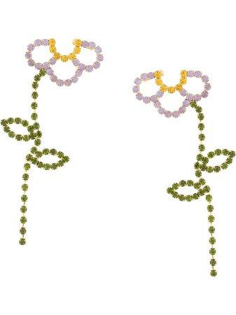 AREA stem drop earrings