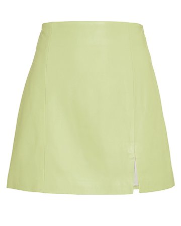 The Mighty Company The Hackney Leather Mini Skirt | INTERMIX®