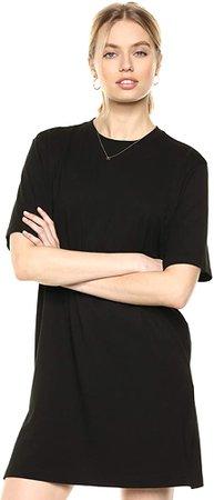 Amazon.com: The Drop Women's Federica Short-Sleeve Crew Neck Mini T-Shirt Dress, Black, XS: Clothing
