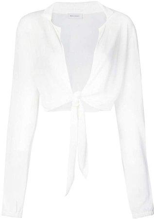 Beau Souci cropped tie blouse