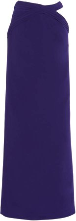 Monot Cutout Crepe Maxi Skirt