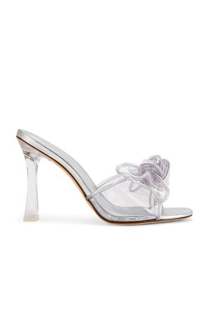 Larroude Mariah Heel in Silver   REVOLVE