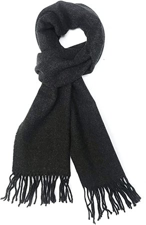 Calvia Cashmere Feel Scarf - Super Soft & Warm for Winter - Elegant Looks for Women & Men (Charcoal Gray) at Amazon Men's Clothing store
