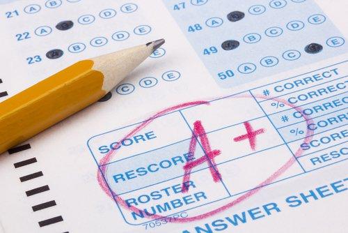 high score on school test