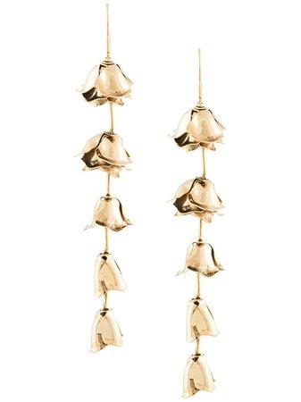 Jennifer Behr, cut-out hanging rose earrings