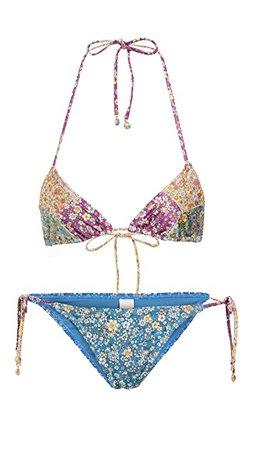 Zimmermann Carnaby Spliced Tri Bikini Set | SHOPBOP