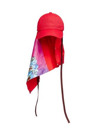 RAF SIMONS Red Joy Division Atmosphere Cap