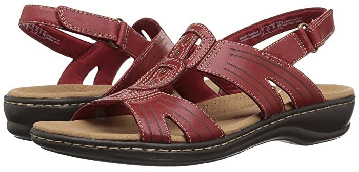 Leisa Vine (Red Leather) Women's Sandals