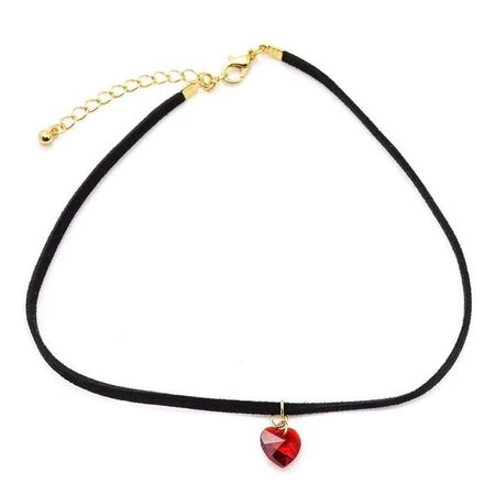 Online Shop Exquisite Small Red Acrylic Heart Necklaces Pendants Simple Thin Black Leather Choker Necklace For Women Colgantes Mujer Moda   Aliexpress Mobile