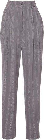 Alberta Ferretti Straight-Leg Moire Pants