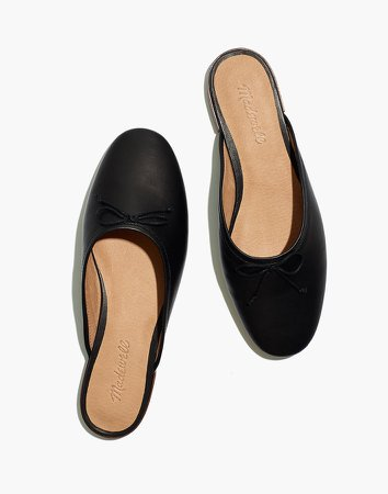 The Adelle Ballet Mule in Leather