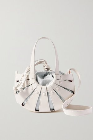 The Shell Small Leather Shoulder Bag - White
