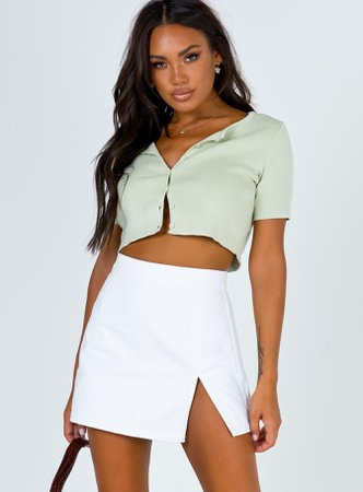 The Lola Mini Skirt White – Princess Polly USA
