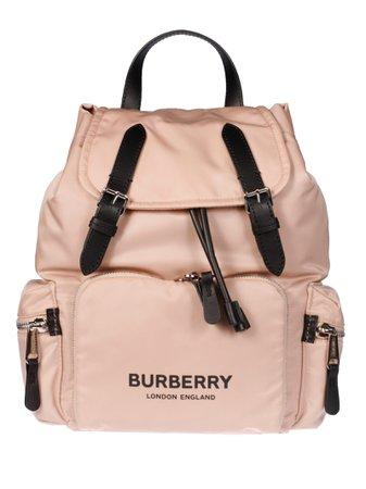 Burberry Medium Logo Print Backpack