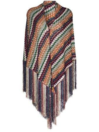Missoni Fringed crochet-knit Scarf - Farfetch
