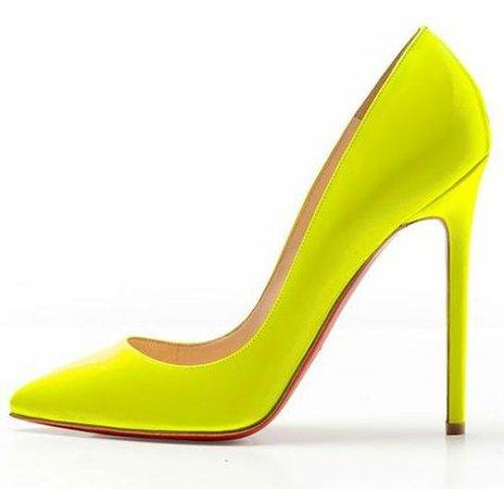 Christian Louboutin Neon Yellow Pigalle heels