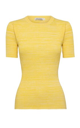 Bebe Ribbed-Knit Cotton Top by Anna Quan | Moda Operandi