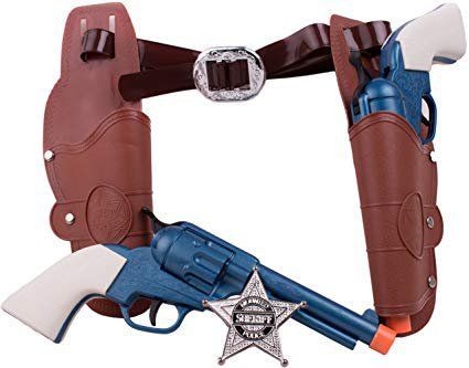 Amazon.com: Deluxe Wild Wild West Set - Western Sheriff Cowboy Pistol 6 Pc. Set: Toys & Games