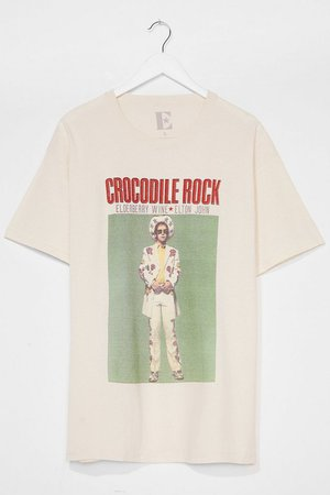 Crocodile Rock Graphic Band Tee Dress | Nasty Gal
