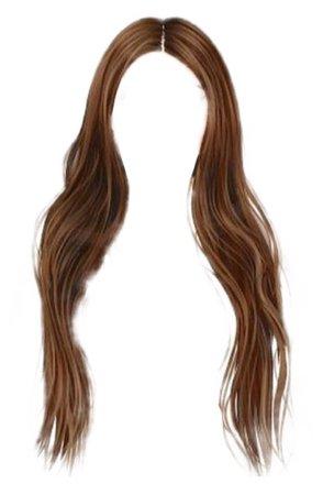 long brown hair png