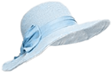 light blue summer hat