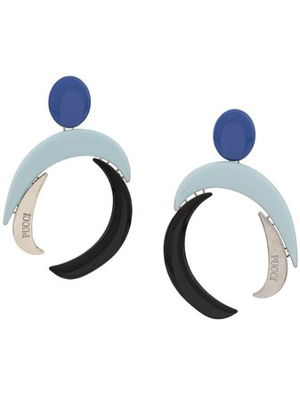 Emilio Pucci Geometric Shaped Earrings   Farfetch.com