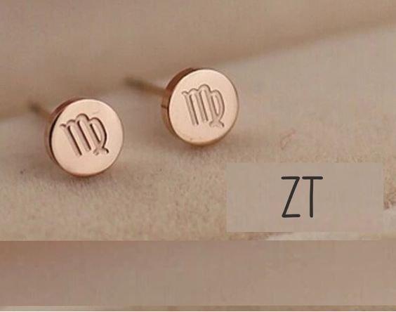 virgo earrings