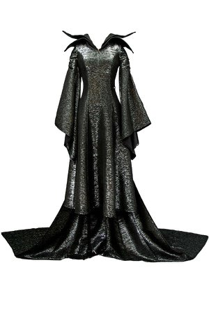 Maleficent Evil Queen Cosplay MALEFICENT Angelina Jolie Cosplay Dress Costume Version B Full Set Halloween carnival costume ($85.50)