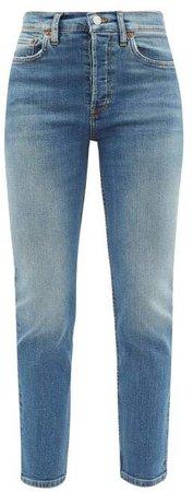 High Rise Cropped Slim Leg Jeans - Womens - Denim