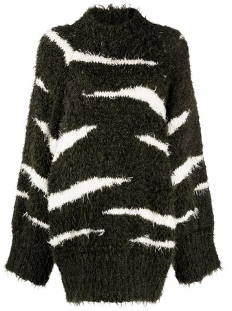 The Attico zebra-stripe jumper dress - FARFETCH