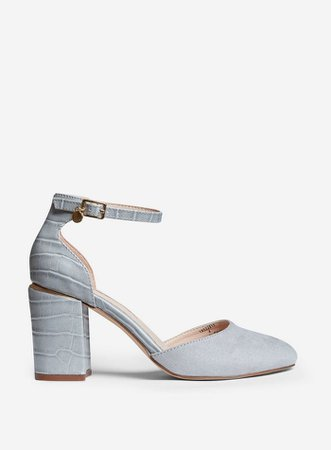 Grey Round Toe Court Shoes   Dorothy Perkins