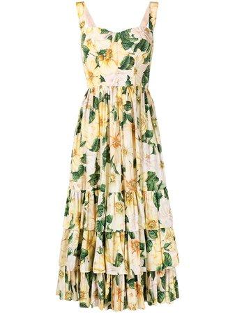 Dolce & Gabbana Tiered floral-print Dress - Farfetch