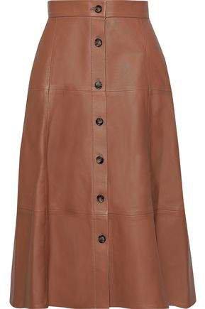 Tianna Leather Midi Skirt