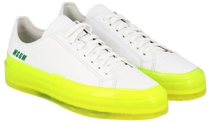 Floating Sneakers with Fluorescent Sole