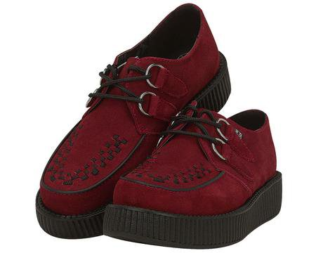 Dark Red Suede Creepers