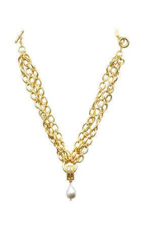 Chloe 24K Gold-Plated Necklace by VALÉRE |