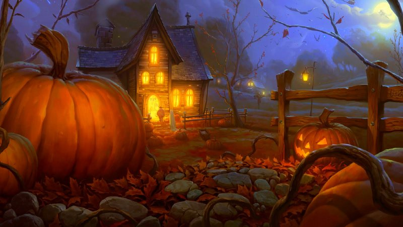 Pumpkin patch illustration