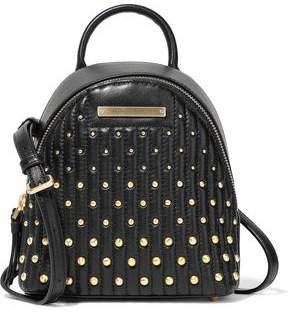 Mini Studded Quilted Leather Backpack