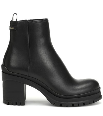 Leather Ankle Boots - Prada | Mytheresa