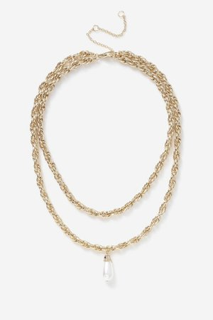 **Pearl Drop Necklace | Topshop