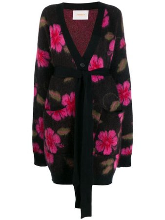La Doublej Hawaiian Flower cardi-coat - Farfetch