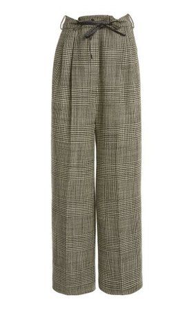 Checked Wide-Leg Wool Pants By Tom Ford | Moda Operandi