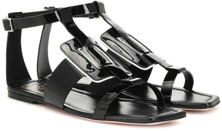 Viv' Sellier patent leather sandals