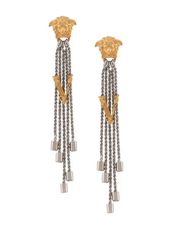Versace, Virtus Bolo Drop Earrings