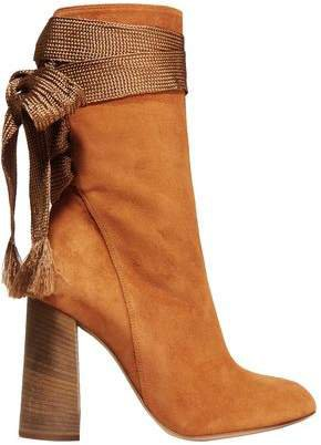 Harper Bow-detailed Suede Boots